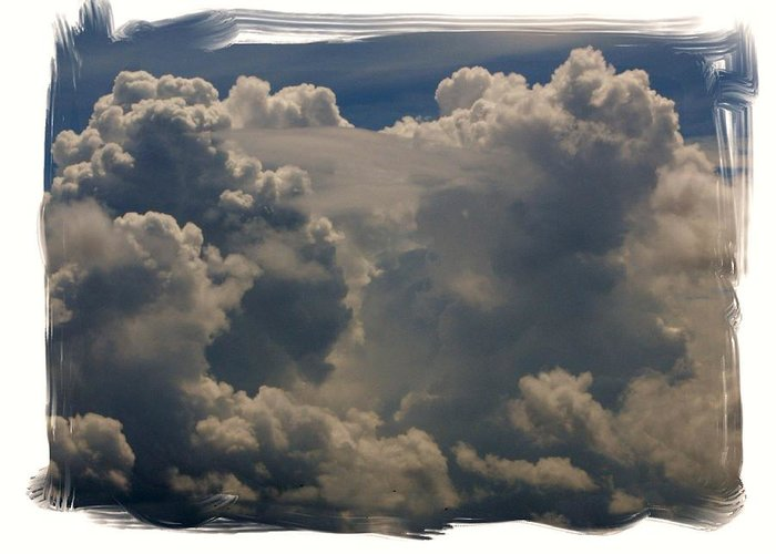 Cloud Greeting Card featuring the photograph Cumulonimbus by Priscilla Richardson