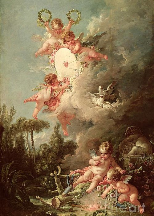 Boucher Paintings Greeting Cards
