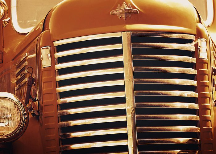 Trucks Greeting Card featuring the photograph Curbside Classic by Christine Till