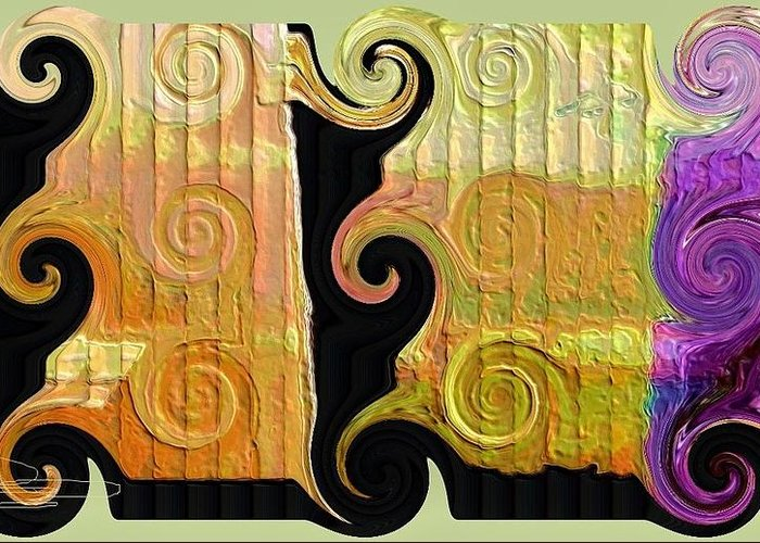 Abstract Digital Art Greeting Card featuring the photograph Curling Up by Diana Chason