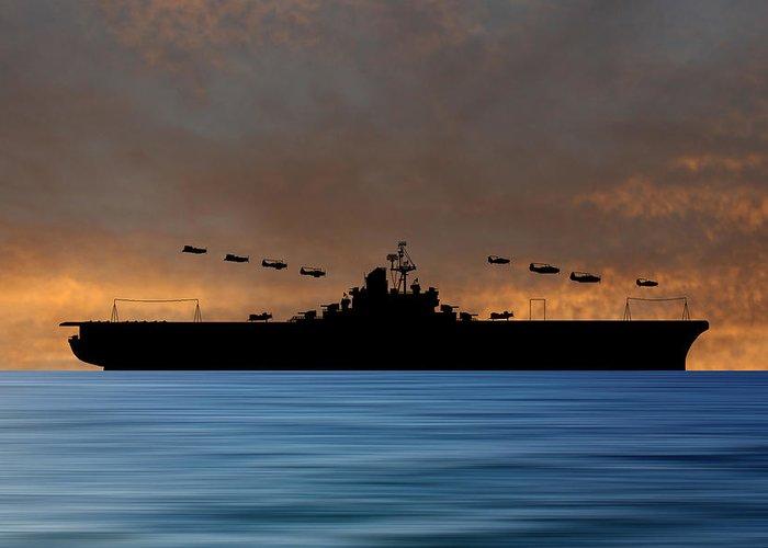 Warship Greeting Cards