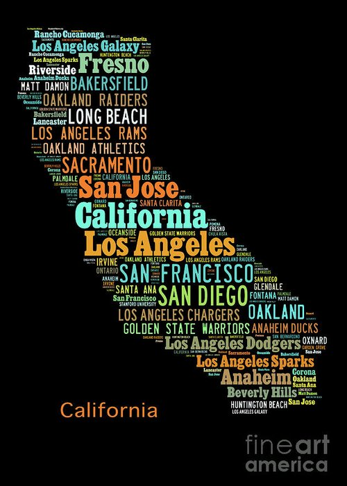 California Maps For Sale on