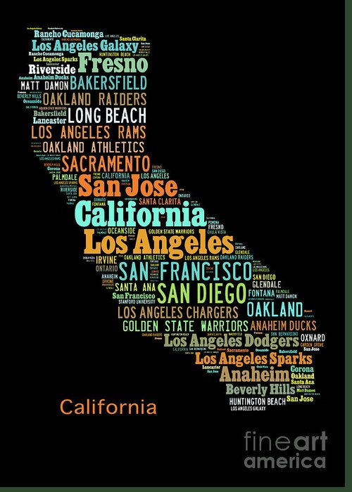 Custom Silhouette Art Print Pop Art California Map Modern Style