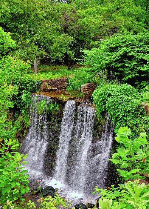 Cuttalossa Greeting Card featuring the photograph Cuttalossa Falls New Hope Pa by James DeFazio