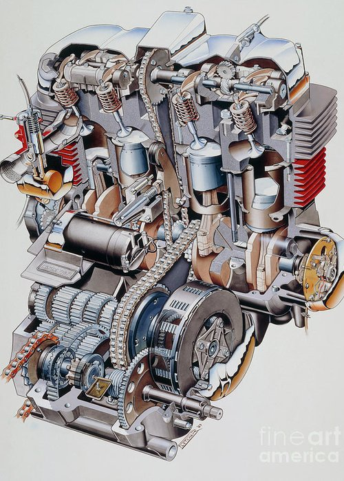cx500 wiring diagram cutaway illustration of honda k2 motorbike engine greeting  cutaway illustration of honda k2 motorbike engine greeting