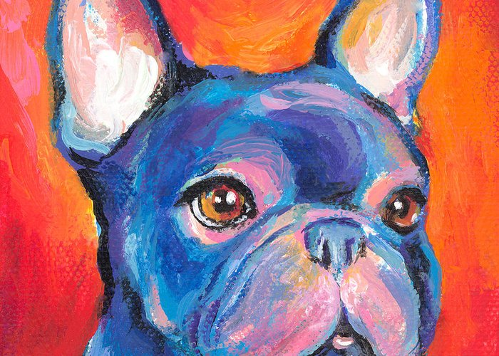 Puppy Paintings Greeting Cards