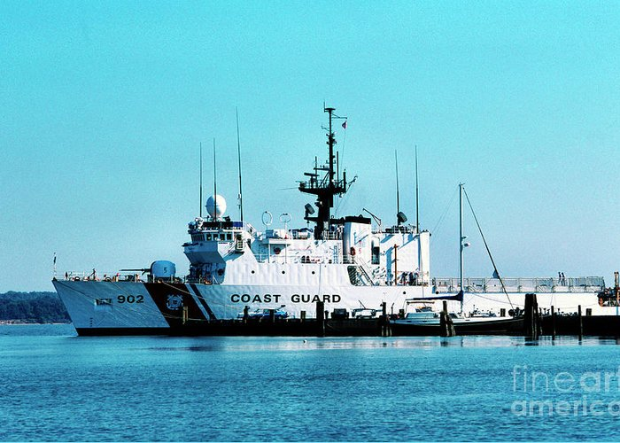 Us Coast Guard Greeting Card featuring the photograph Cutter Tampa by Thomas R Fletcher