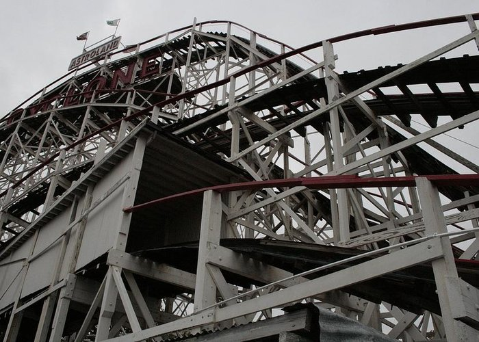 Cyclone Rollercoaster Greeting Cards