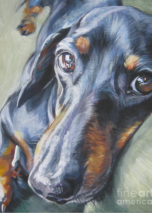 Black And Tan Dachshund Greeting Cards