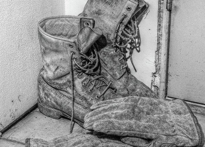 Boots Greeting Card featuring the photograph Dads Boots by Randy Steele