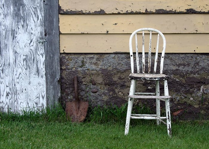 Chair Greeting Card featuring the photograph Dads High Chair by Lauri Novak