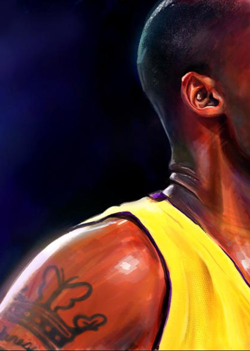 Kobe Greeting Card featuring the digital art Daggers by Jack Perkins