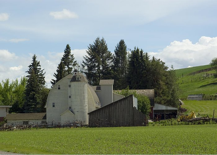 Barn Greeting Card featuring the photograph Dahmen Barn Historical by Louise Magno