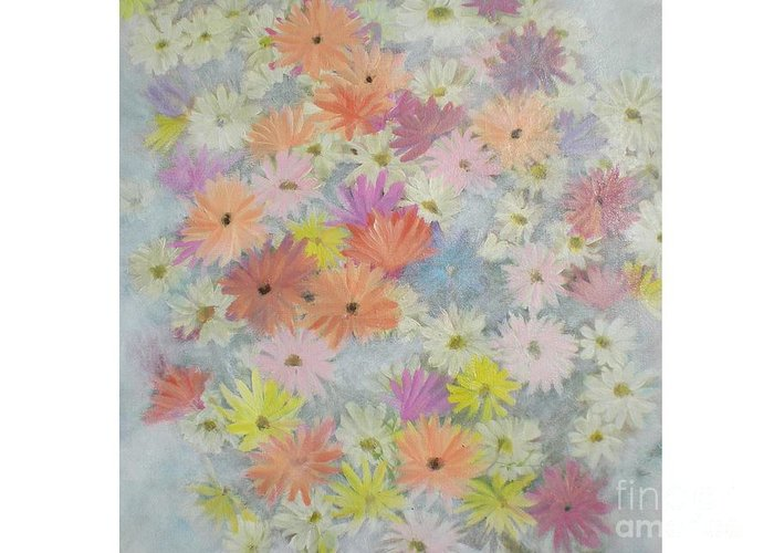 Flowers Greeting Card featuring the painting Daisies by Hal Newhouser
