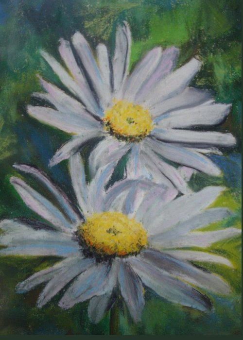 Daisies Greeting Card featuring the painting Daisies by Melinda Etzold