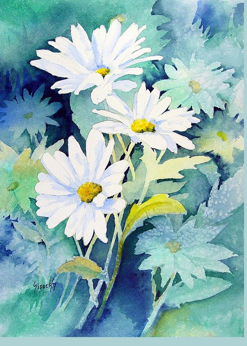 Flowers Greeting Card featuring the painting Daisies by Sam Sidders