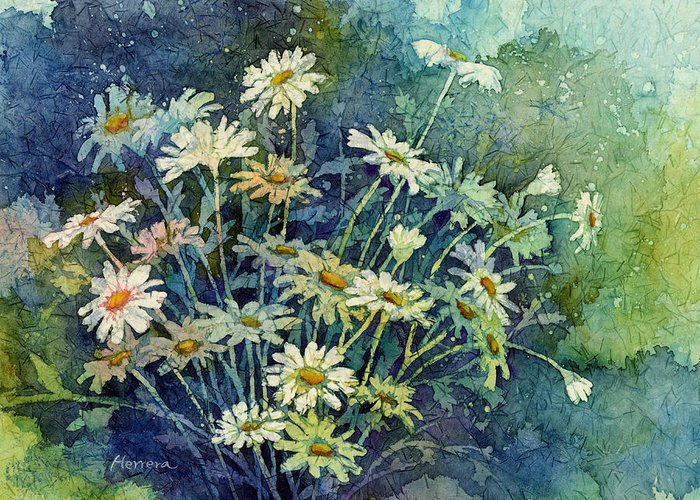 Daisy Greeting Card featuring the painting Daisy Bouquet by Hailey E Herrera