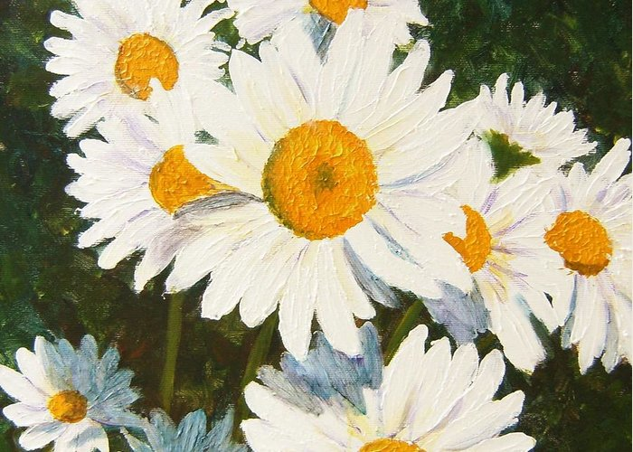Daisy Greeting Card featuring the painting Daisy by Tami Booher