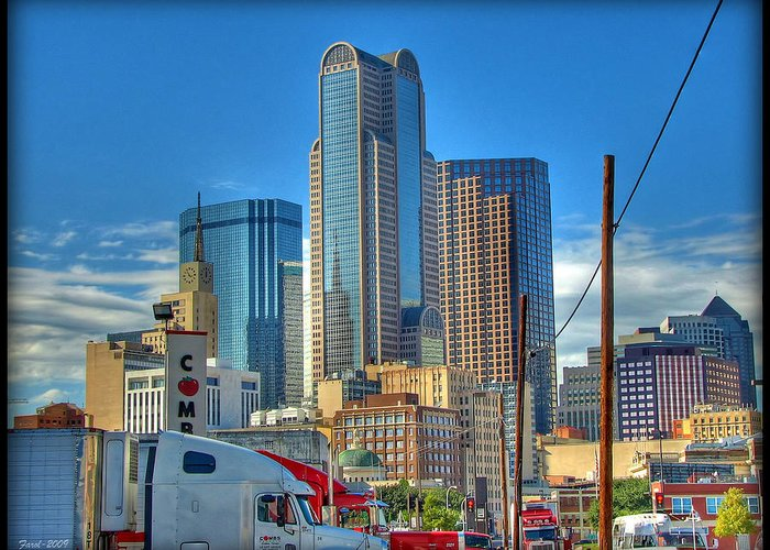 Dallas Greeting Card featuring the photograph Dallas Morning Skyline by Farol Tomson
