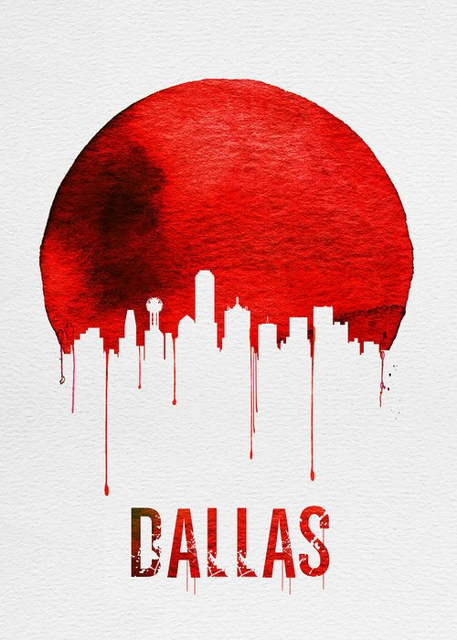 Dallas Skyline Greeting Cards