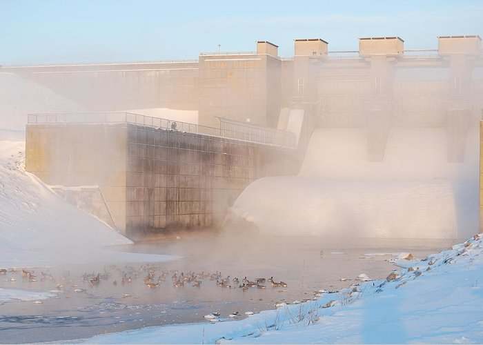 Dam Greeting Card featuring the photograph Dam Cold by Peter McIntosh