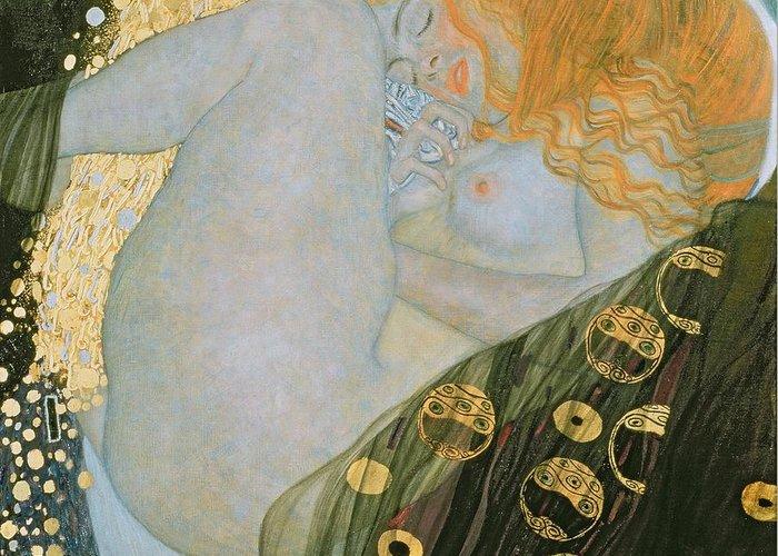 Danae Greeting Card featuring the painting Danae by Gustav Klimt