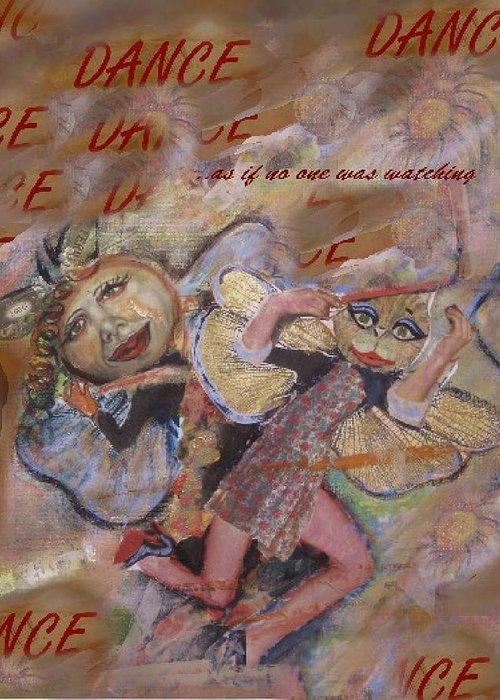 Dance Greeting Card featuring the painting Dance by Cathi Doherty