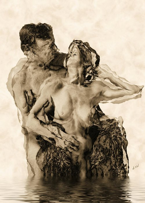 Lovers Greeting Card featuring the photograph Dance by Kurt Van Wagner