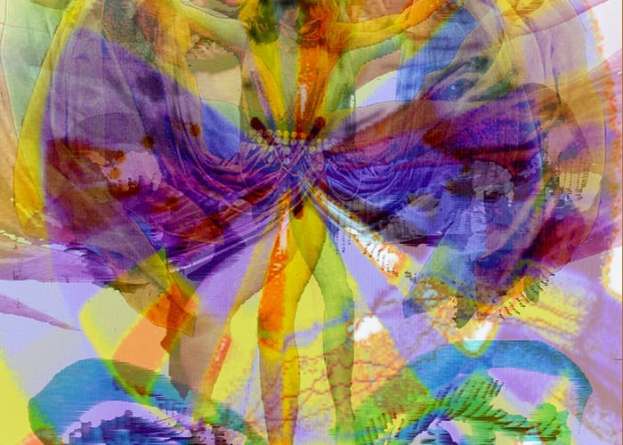 Dance Of The Rainbow Greeting Card featuring the digital art Dance Of The Rainbow by Seth Weaver