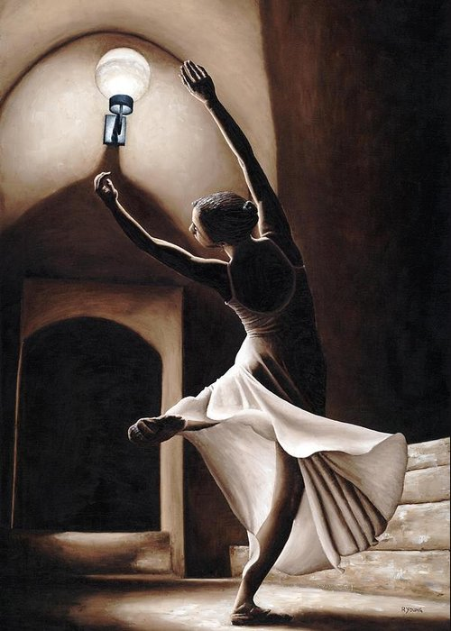 Dance Greeting Card featuring the painting Dance Seclusion by Richard Young