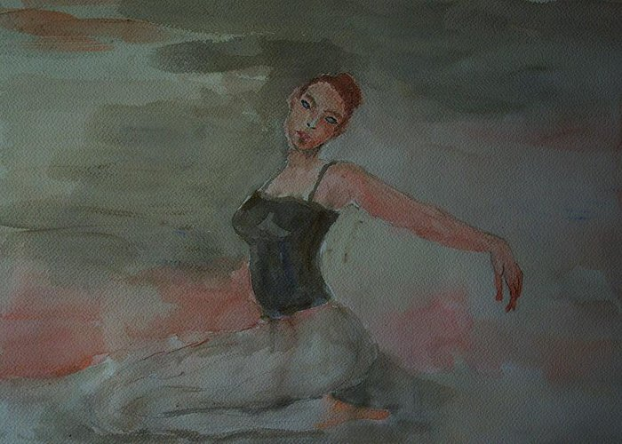 Dance Greeting Card featuring the painting Dancer by Liliana Andrei