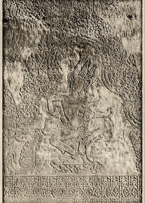 Carved In Stone Greeting Card featuring the photograph Dancer by Nichon Thorstrom
