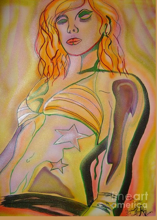 Colors Greeting Card featuring the painting Dancer by Thomas Oliver