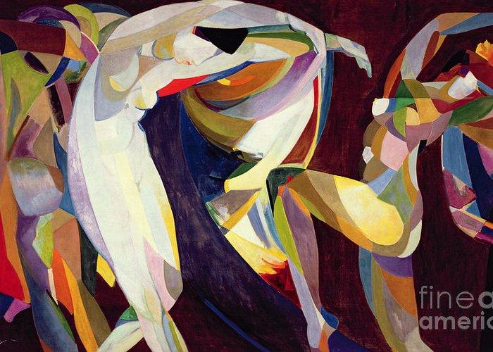 Dtr114638 Greeting Card featuring the photograph Dances by Arthur Bowen Davies