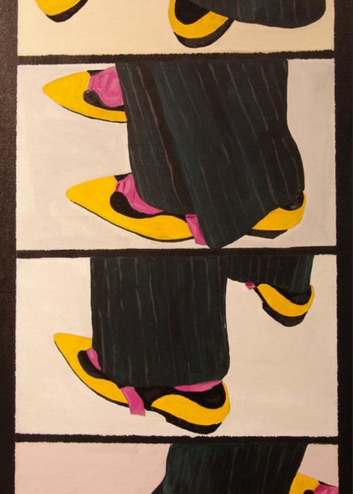 New Museum Greeting Card featuring the painting Dancin Shoes by Kevin Callahan