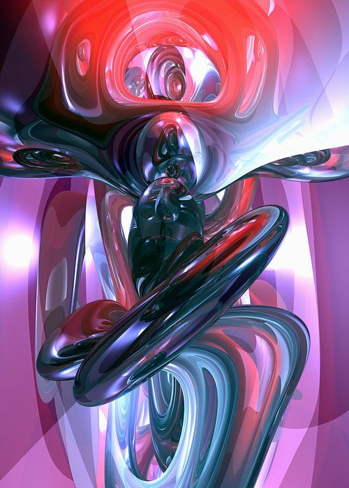 3d Greeting Card featuring the digital art Dancing Hallucination Abstract by Alexander Butler