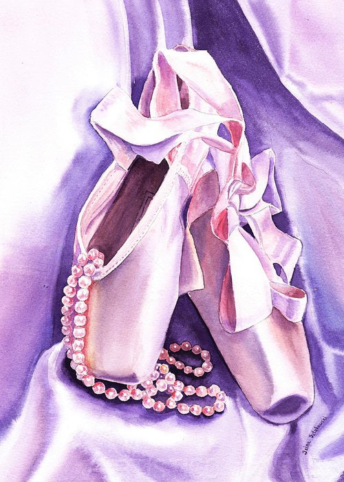 Purple Lace Shoes Greeting Cards