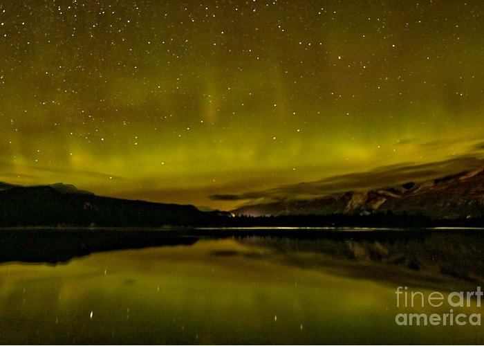 Canadian Northern Lights Greeting Card featuring the photograph Dancing With The Stars by Adam Jewell