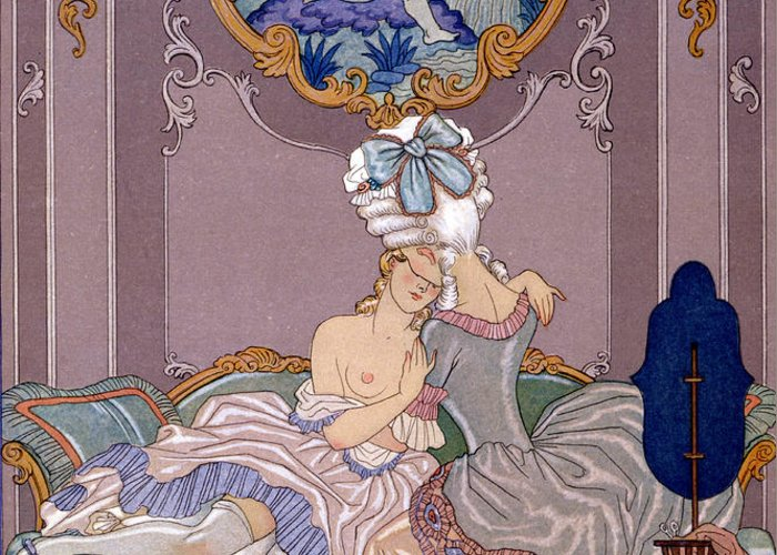 Barbier Greeting Card featuring the painting Dangerous Liaisons by Georges Barbier