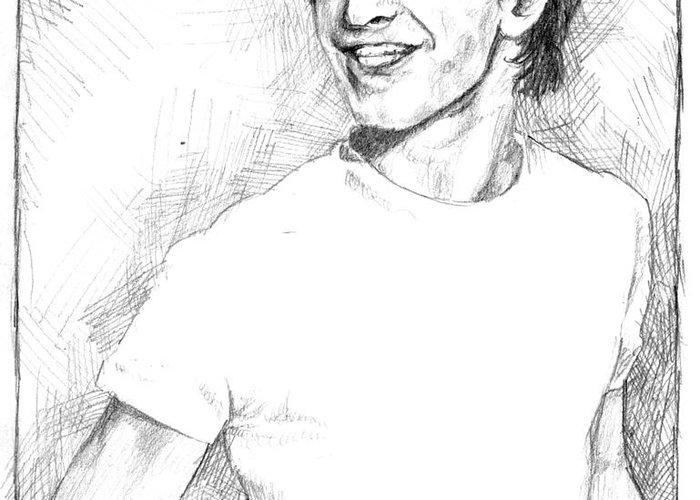 Daniel Radcliffe Greeting Card featuring the drawing Daniel Radcliffe by Liz Molnar