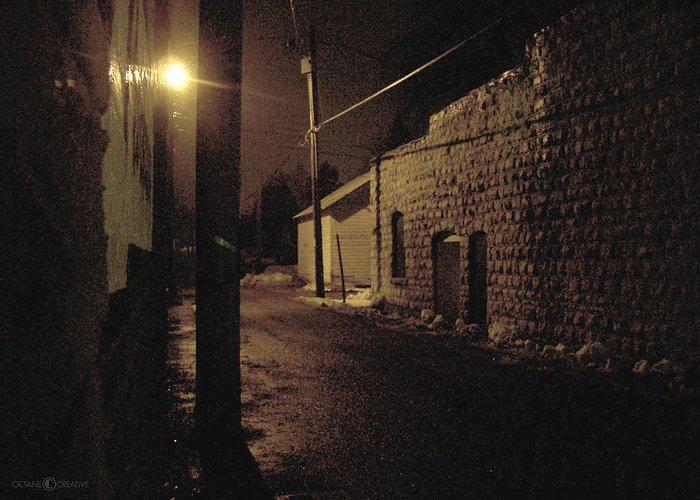 Alley Greeting Card featuring the photograph Dark Alley by Tim Nyberg