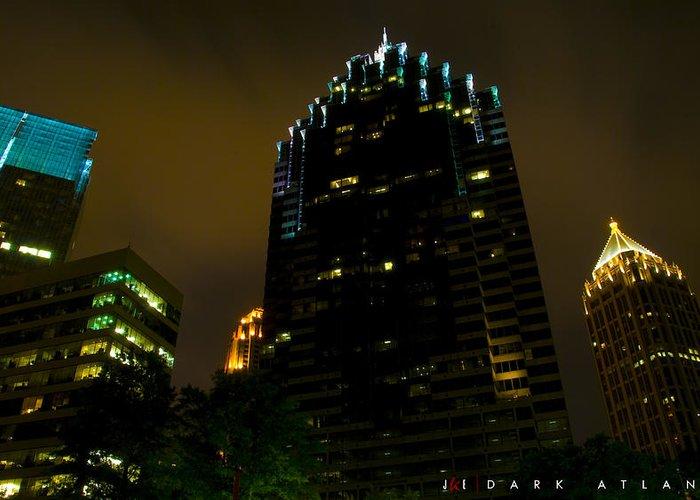 Atlanta Greeting Card featuring the photograph Dark Atlanta by Jonathan Ellis Keys