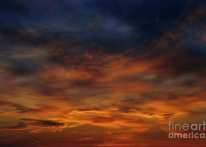 Sunset Greeting Card featuring the photograph Dark Clouds by Michal Boubin