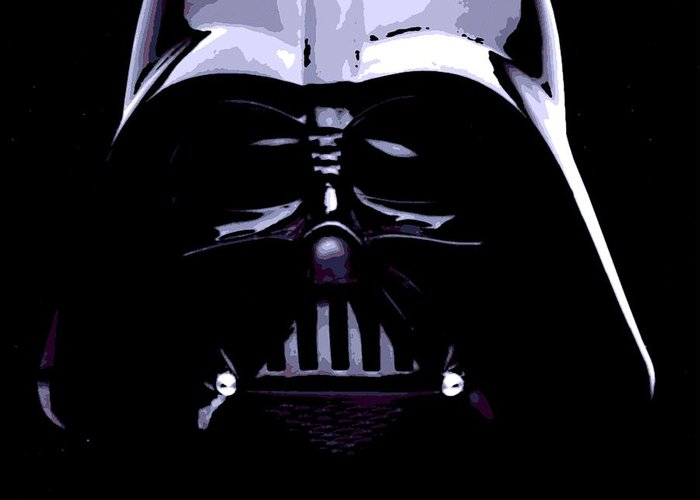 Darth Vader Greeting Card featuring the photograph Dark Side by George Pedro