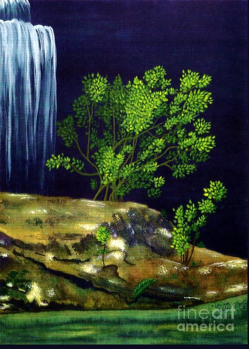 Fine Art Greeting Card featuring the painting Dark Waters by Patricia Griffin Brett