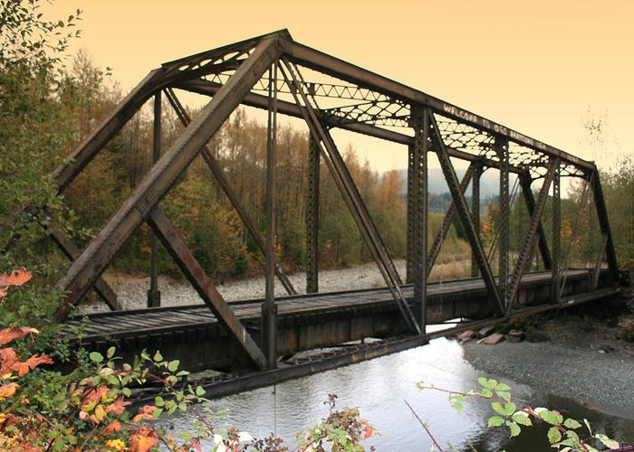 Bridge Greeting Card featuring the photograph Darrington Bridge Br-6002 by Mary Gaines