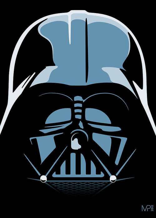 Star Wars Greeting Card featuring the digital art Darth Vader by IKONOGRAPHI Art and Design