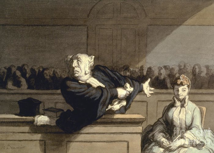 1860 Greeting Card featuring the photograph Daumier: Advocate, 1860 by Granger