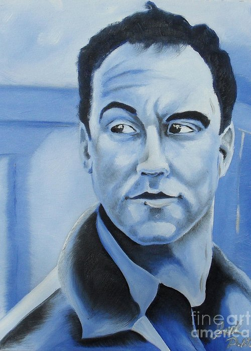 Dave Matthews Greeting Card featuring the painting Dave Matthews - Some Devil by Joseph Palotas