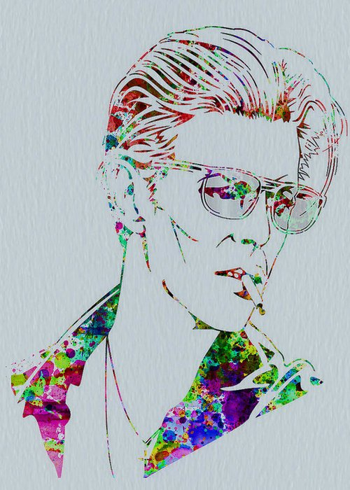 David Bowie Greeting Card featuring the painting David Bowie by Naxart Studio